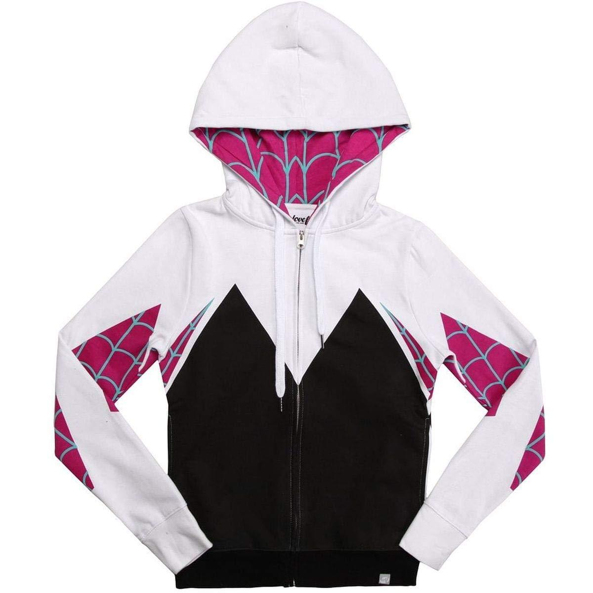 9ec6cf59e28 Mighty Fine Girls Womens I Am Spider-Gwen Hoodie X-Large: Amazon.co ...