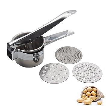 ukey patatas acero inoxidable frutas verduras patatas, exprimidor prensa eléctrica, comida para bebés colador