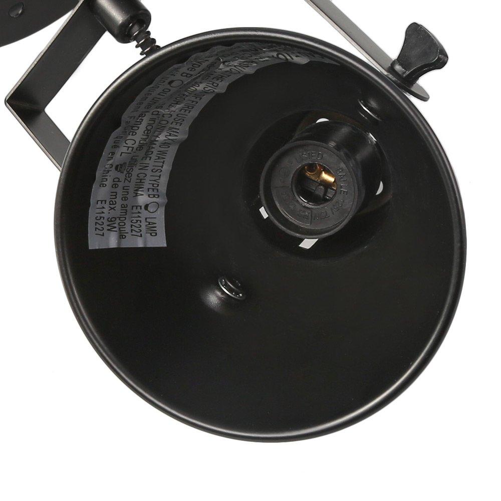 LALUZ Semi Flush Mount Adjustable 1 Head Track Lighting Fixture Modern Ceiling Spotlight, A03200 by LALUZ (Image #5)
