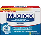 Mucinex 12 Hr Max Strength Chest Congestion Expectorant Tablets, 42ct