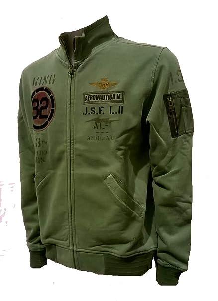 Aeronautica Militare Felpa FE1329 Verde Salvia, Sweatshirt, Pantalone, Maglia,