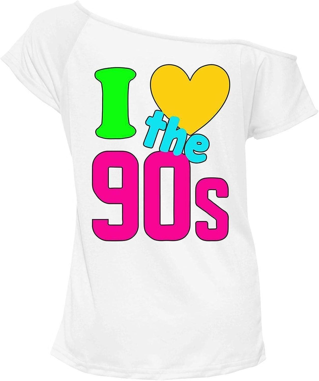 My Choice Stuff Women Pop Disco Party Retro Top I Love The 90s T Shirt Top
