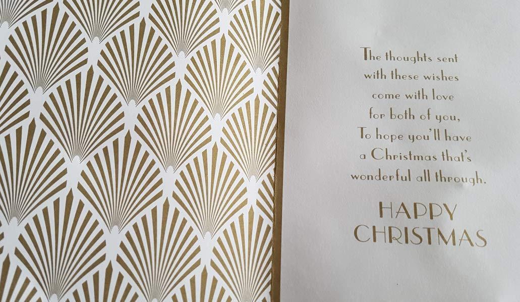 Son /& Partner Prelude Art Deco Glittered Christmas Card