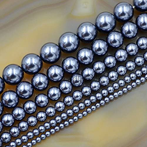 Olive Green 4mm 16 Inch Strand Round Glass Pearls Beads
