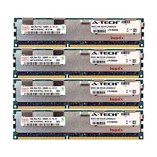(A-Tech Hynix 16GB Kit 4X 4GB PC3-10600 1.5V for Dell PowerEdge R820 A2626093 R910 T410 R415 A2862069 M610 R510 R710 A2862074 T610 T710 A3721482 C1100 C2100 C6145 C6100 C6105 R320 C6220 Memory RAM)