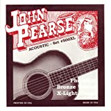 John Pearse P500XL Bronze Acoustic Guitar Strings, Extra Light