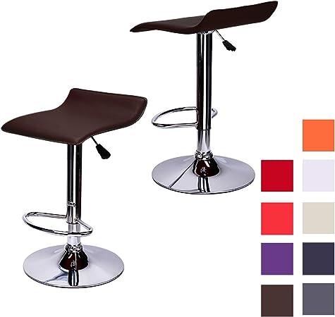 1er Set Tabourets De Bar Chaise de cuisine tabourets bistro Tabouret Tabouret Pivotante Cuir Synthétique