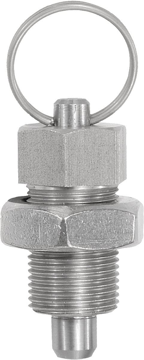 Kipp Hardened Locating Pins Size 4/M20x1,5/Shape D = 10/Stainless Steel Pack of 1 k0342.04410 S