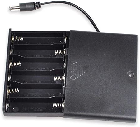 3 Three 9V DC Cell Battery Box Holder with on//off switch w// 6 inch Leads for L