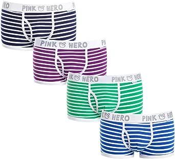 JINSHI 4-PACK Men/'s Short Boxer Briefs Underwear Soft Classic Trunks U-convex
