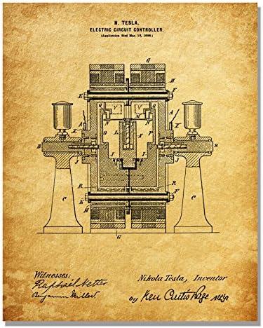 Nikola Tesla Patent Art Prints - Juego de Seis Impresiones de ...