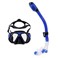 HOMYL Professional Dry Snorkel Set, Dry-Top Snorkel Set with Anti-Fogging Tempered Glass Diving Mask, Adjustable Head Straps & Silicone Mouthpiece
