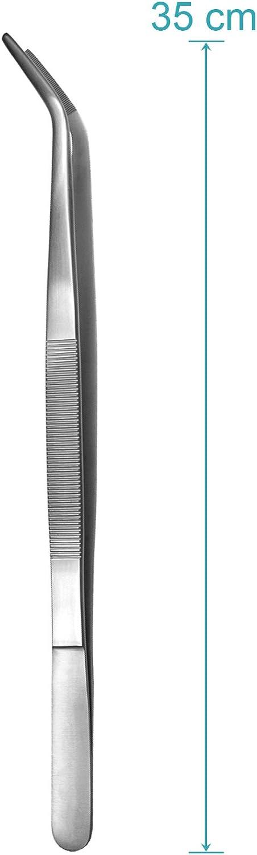 35 cm Edelstahl May Elektriker Pinzette Technische Pinzette gebogen Industrie-Pinzette Modellbau Pinzette
