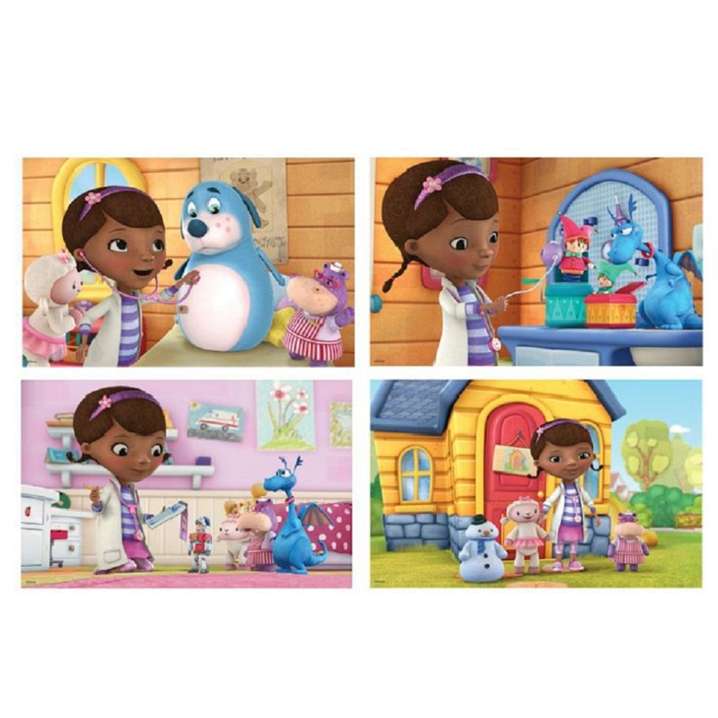 Uncategorized Child Puzzles amazon com doc mcstuffins 7 wood puzzles in wooden storage box styles will vary toys games