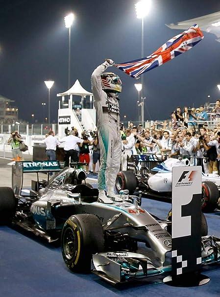 F1-6 Mercedes 2014 F1 Motivation Formula Sport Lewis Hamilton Racing Poster