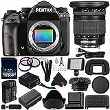Pentax K-1 DSLR Camera #19568 (International Model) + Pentax 12-24mm f/4 ED AL (IF) Autofocus Lens + D-LI90 Replacement Lithium Ion Battery + 128GB SDXC Class 10 Memory Card Bundle