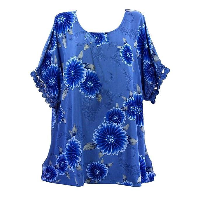 Lonshell Mujer Tamaño Grande Manga Larga Estampado Floral Sin Tirantes Blusa Sudaderas Camisa Mujeres Oversize Sudadera: Amazon.es: Ropa y accesorios