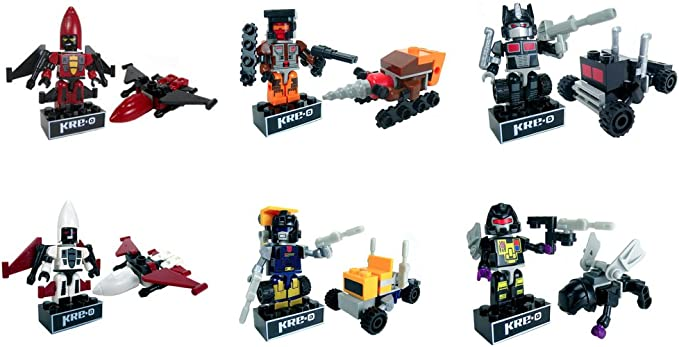 Details about  /New Lot 7 Pcs Transformers Kre-o Mini miniture action Figure Toys Xmas gift