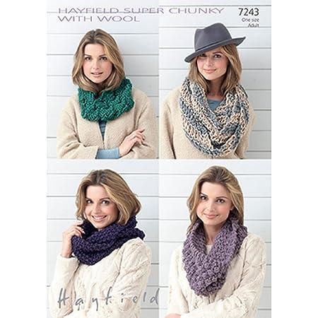 Sirdar Hayfield 7243 Knitting Pattern Snoods In Hayfield Super