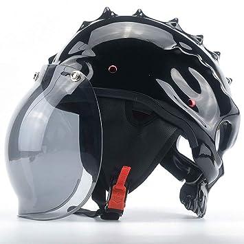 Cascos moto Casco, medio casco de seguridad, calavera de Halloween es una buena opción