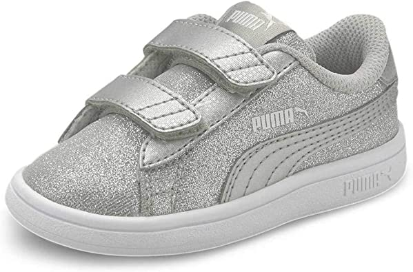 PUMA Smash V2 Glitz Glam V Inf, Baskets Bébé Fille: Amazon