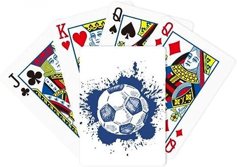 beatChong De Dibujos Animados Azul fútbol Poker Juego de Cartas de ...