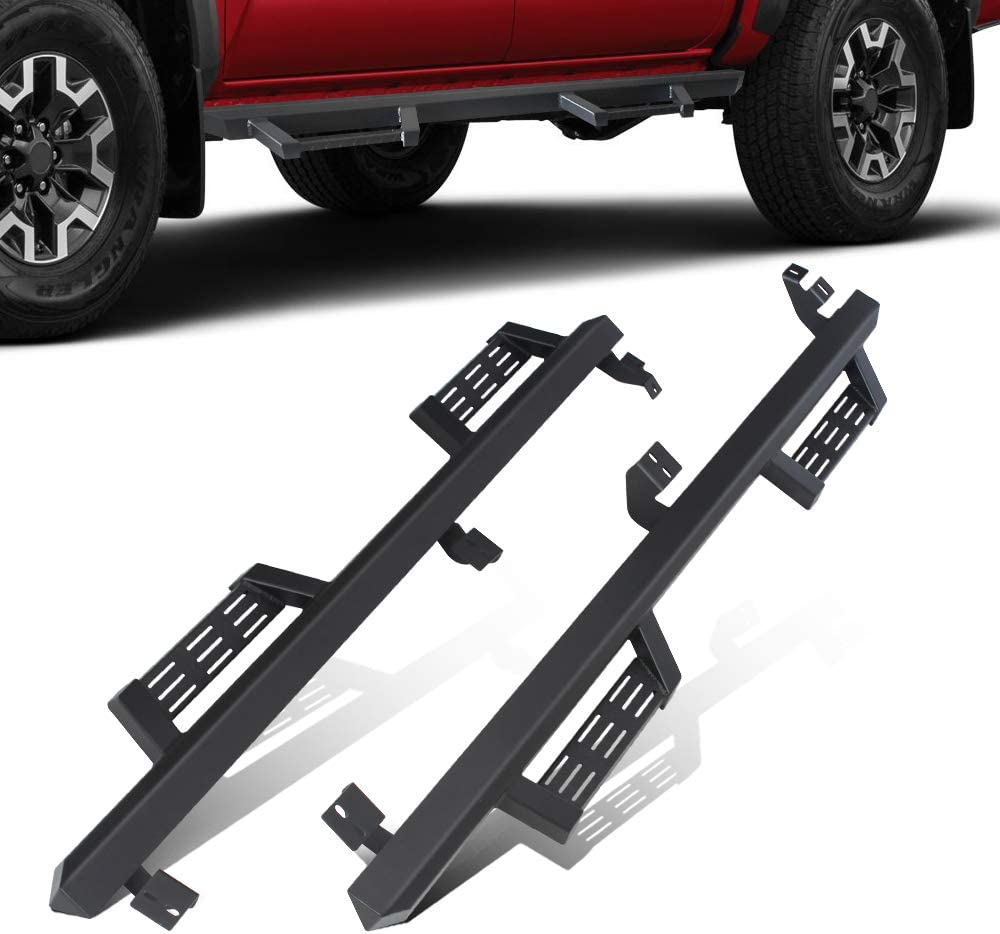 CDG Nerf Bar Side Steps Running Boards for 2005-2020 Toyota Tacoma Double Cab Crew Cab Side Step Nerf Bars Rails Driver and Passenger Side