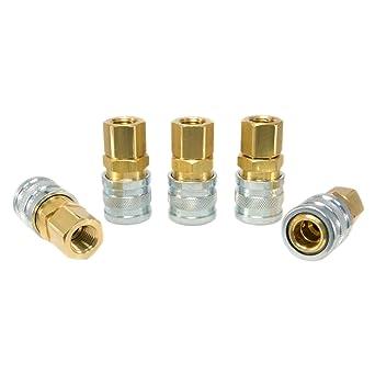 Industrial Interchange 1//4 Body MIL Spec Couplers 10pc 1//4 NPT I//M Foster 3 Series