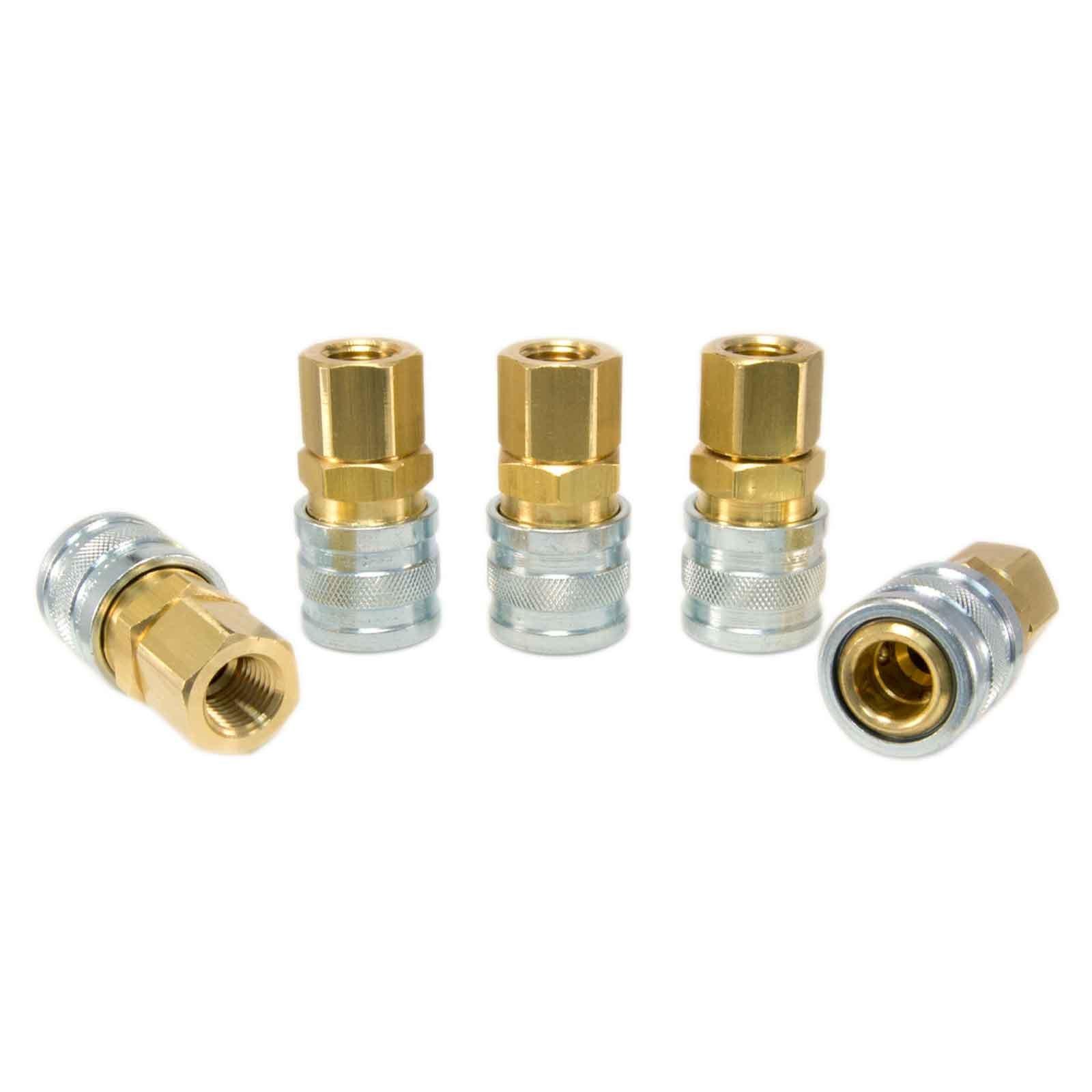 Foster 3 Series - Couplers 5pc, 1/4'' Body, 1/4'' NPT - Industrial Interchange, I/M, MIL Spec