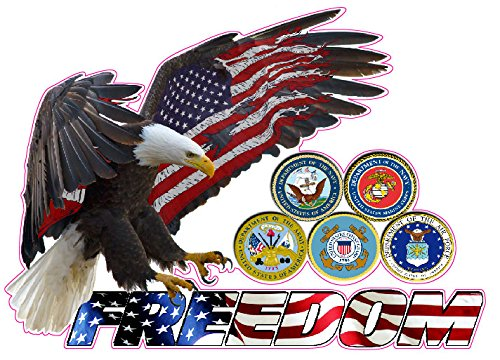 Nostalgia Decals American Eagle Freedom Armed Forces Decal 6