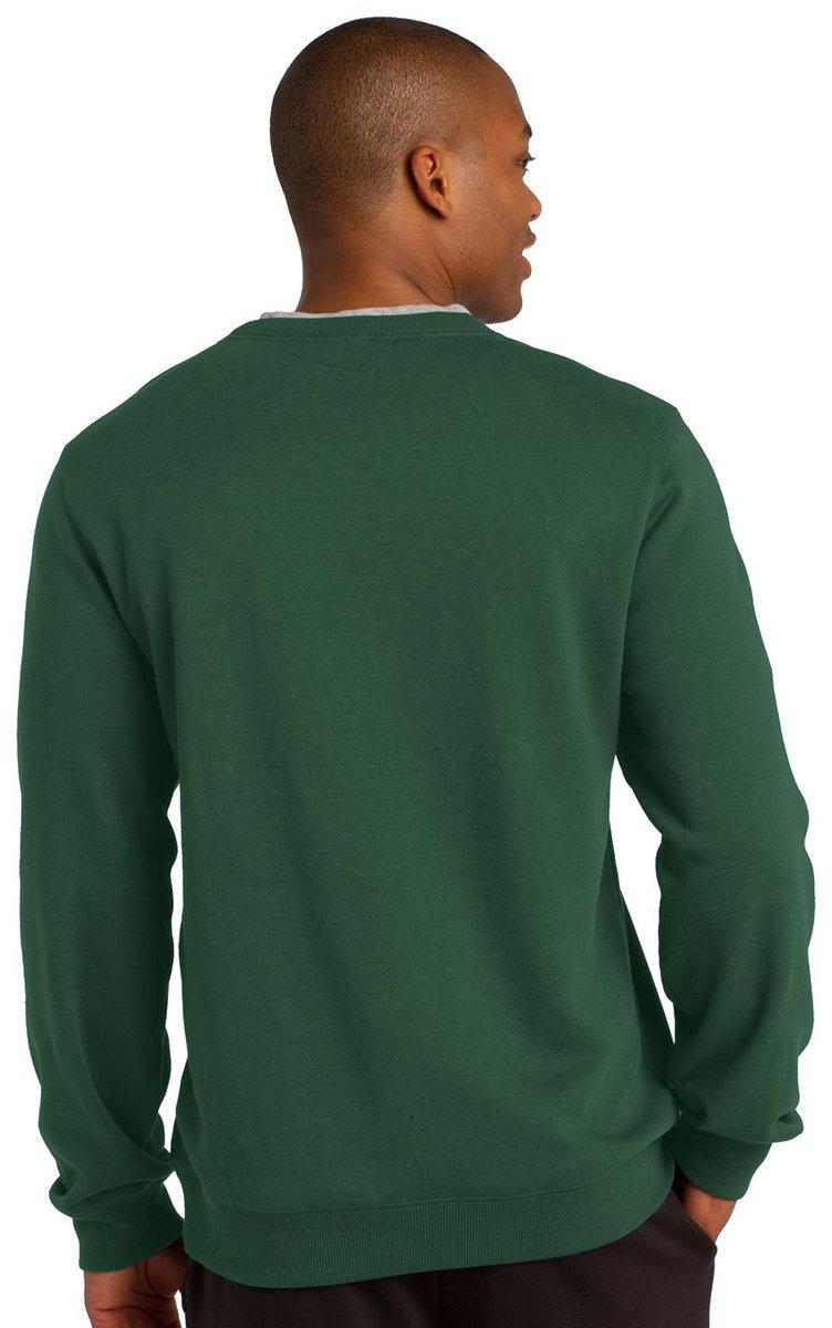 Sport-Tek Mens Comfort Waistband Crewneck Sweatshirt/_Black/_Large