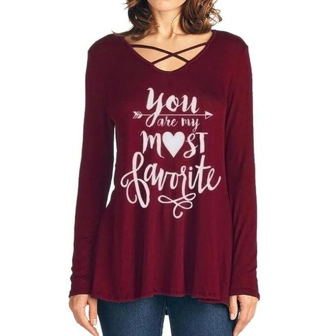 Yannerr mujer primavera letra estampado suelta casual manga larga básica camiseta tops suéter chaqueta deportiva sudadera