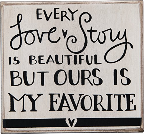 - Primitives by Kathy Hand-Lettered Box Sign, Every Love Story
