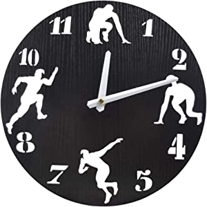 Free 12 inch Athletics Wooden Wall Clock Battery Operated…