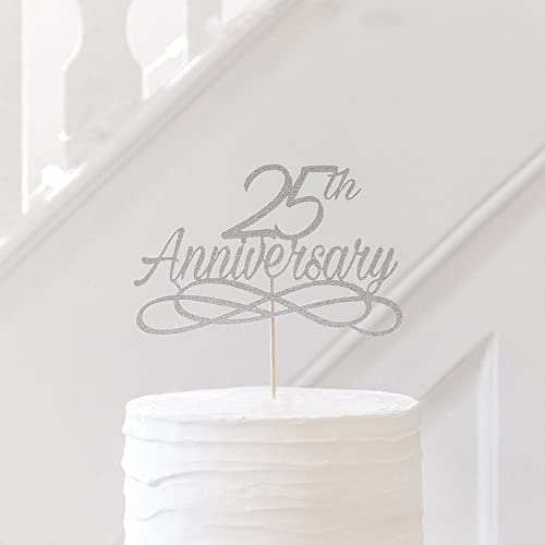 25th Wedding Anniversary Cake Topper All Anniversaries Any
