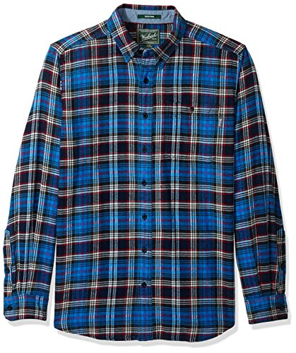 Trout Uomo Con Asphalt Maglia Long Run Flannel Shirt Woolrich Da Bottoni E6q5nH
