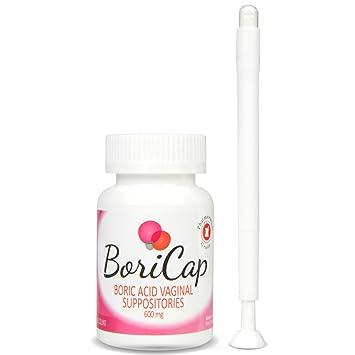 Amazon Boricap Boric Acid Vaginal Suppositories 60 Count