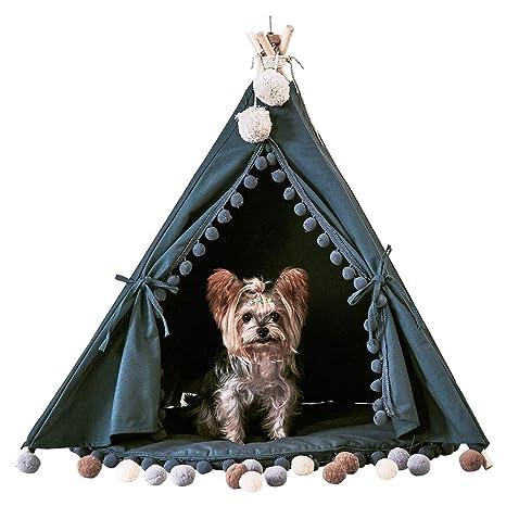 han-mm Pet – Mascota Casa plegable mascota tienda muebles cama de gato con cojín. Pasa ...