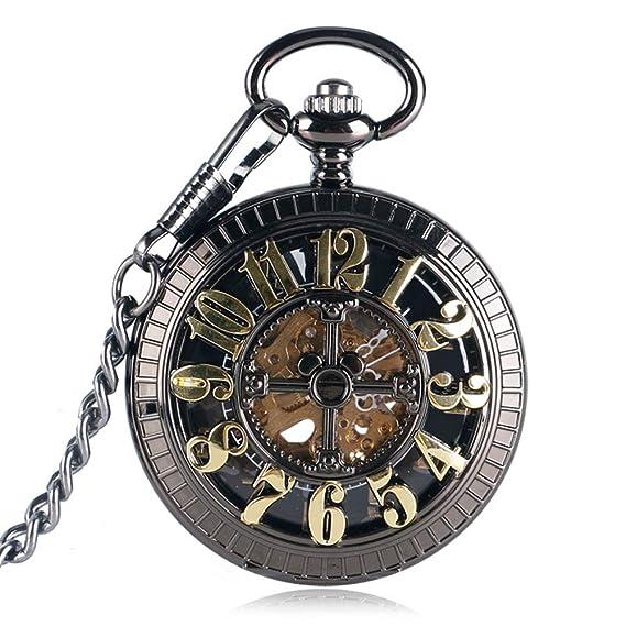 Orologio da taschino vintage, orologio da tasca elegante da scheletro per  uomo, orologio da