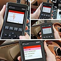 Launch OBD2 Scanner Creader 6001 Full OBDII//EOBD Code Reader Scan Tool for O2 Sensor Test On-Board Monitor Test and I//M Readiness Status with Dtc Look-Up