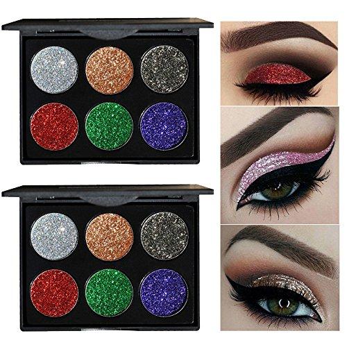 (WensLTD Shimmer Glitter Eye Shadow Powder Palette Matte Eyeshadow Cosmetic Makeup (B))