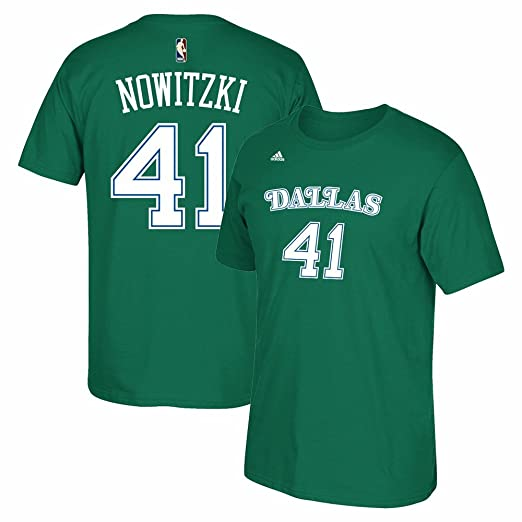 2b7fc64a616 Dirk Nowitzki Dallas Mavericks Hardwood Classics Kelly Green Shirt (Medium)