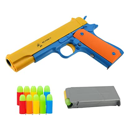 amazon com teanfa classic colt 1911 toy gun with soft bullets