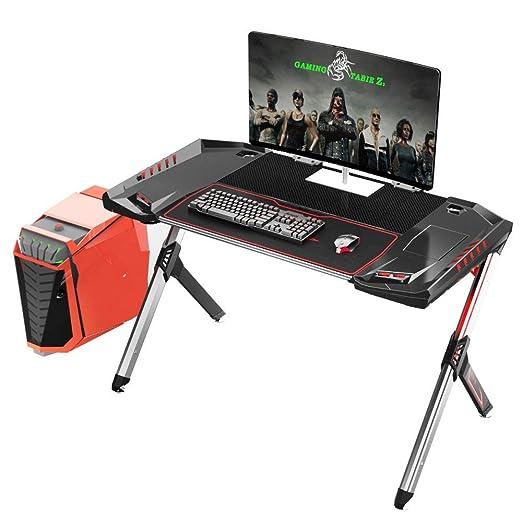 KTDZ Gaming Desk, Mesa De Juegos para El Hogar Escritorio Simple ...