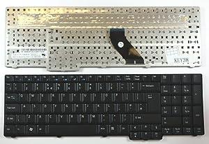 Keyboards4Laptops UK Layout Black Laptop Keyboard Compatible with Acer Aspire 5235, Acer Aspire 5335, Acer Aspire 5535, Acer Aspire 5735, Acer Aspire 5735z
