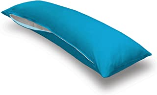 product image for SheetWorld Butter Soft 100% Cotton Jersey Knit Body Pillow Case - Solid Turquoise - Made in USA