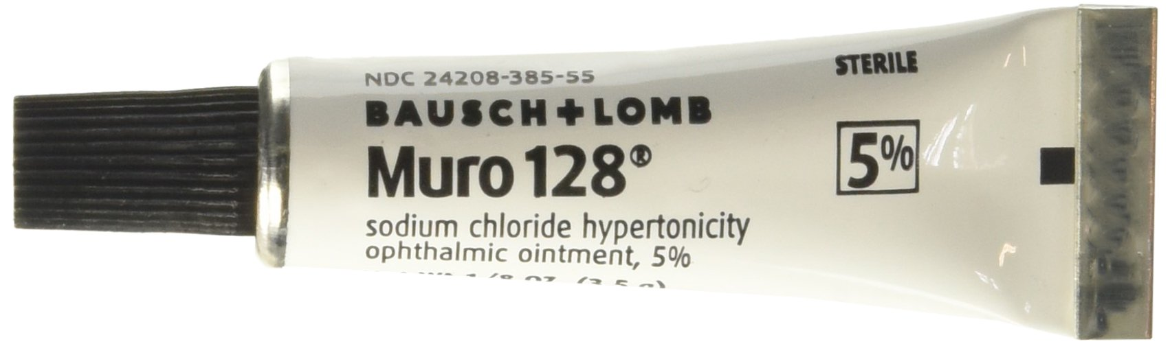 Muro 128 Sterile Ophthalmic 5 Percent Ointment,Twin Pack .25 oz (7 g