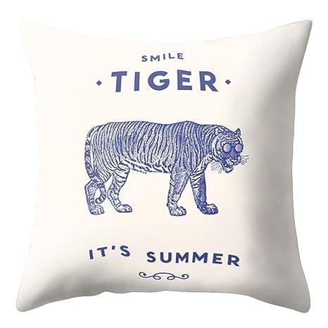 dragonaur moda León tigre patrón manta funda de almohada ...