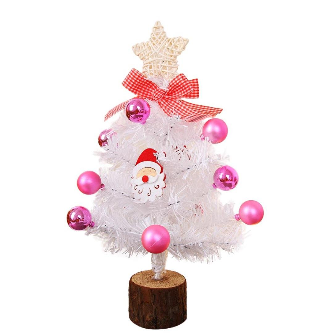 Livoty DIY Artificial Flocking Christmas Tree Multicolor Holiday Xmas Window Decor (A)