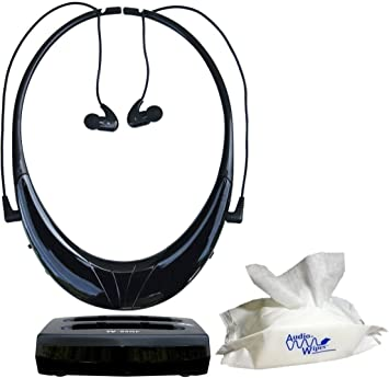 Serene innovaciones tv-95rf - tvdirect auriculares inalámbricos para TV y audiowipes funda: Amazon.es: Electrónica